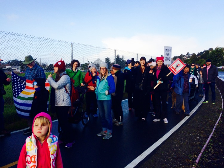 Albany Marchers Say Hi