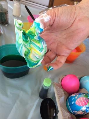 Shaving Cream Egg