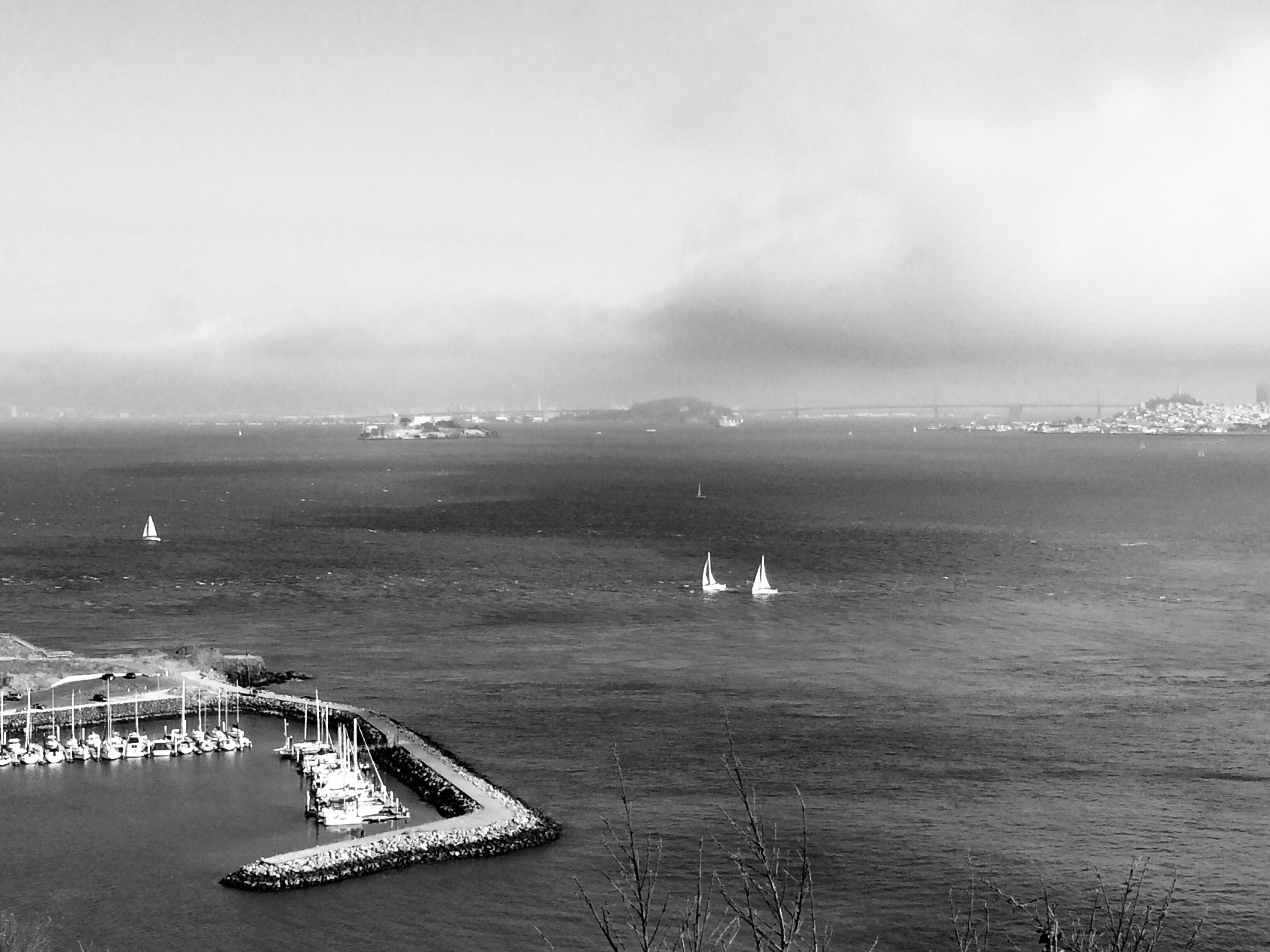 37ac1394360a Across The Bay Two Ways Black and White in the Distance