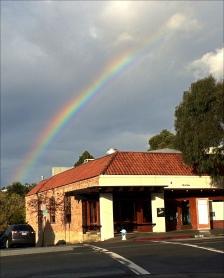 Rainbow over cantina