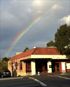 Rainbow over cantina