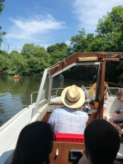 Boat Pilot on River Avon