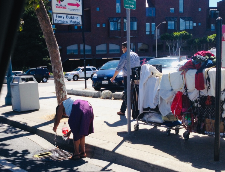 Homeless women Sf