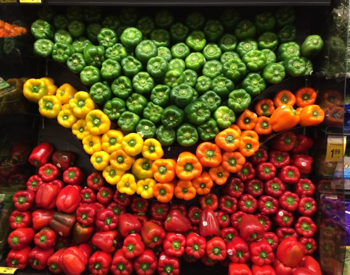 Bell pepper display