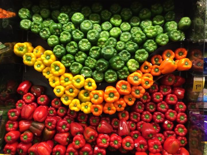 Bell pepper display
