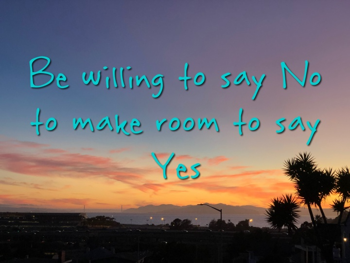 Yes and No sunset