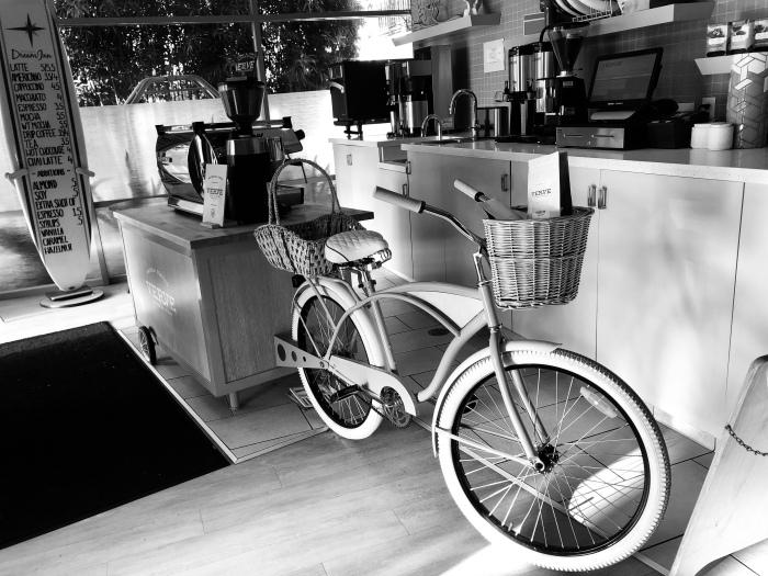 Coffee cart bike