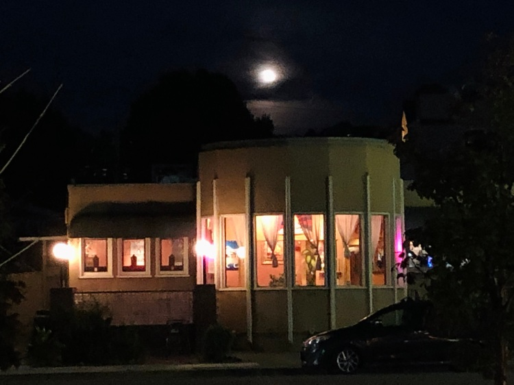 Dining by the full moon