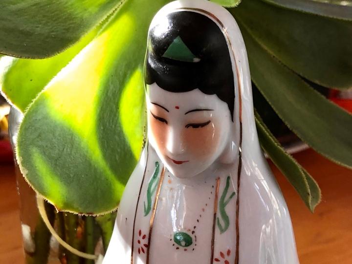 Quan Yin Among the succulents
