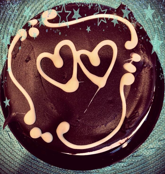 Valentines Cake with stars