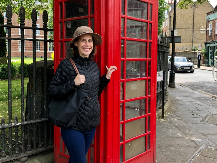 Jessie and phone booth