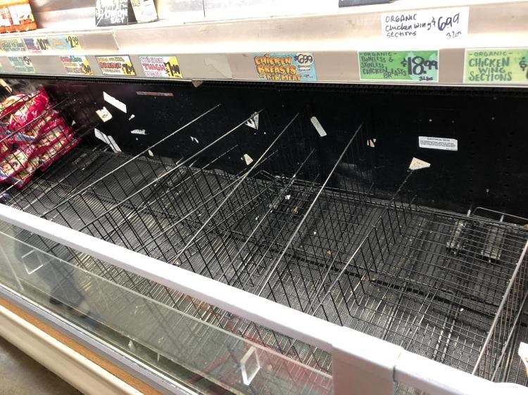 Empty chicken freezer