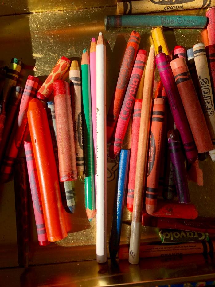 Orange crayons