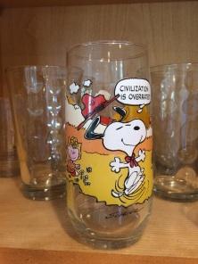 Snoopy glass