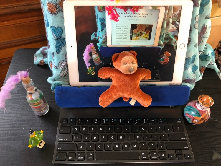 Desk with Bear