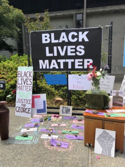 BLM sign and Names