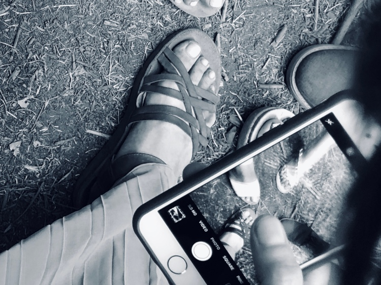 Foot selfie