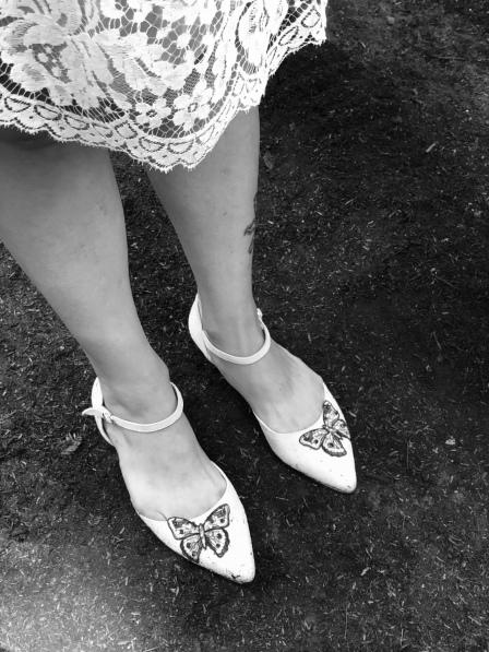 Natalie's wedding shoes