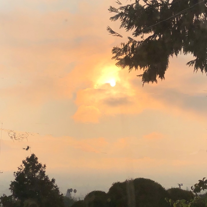 Smoky sky