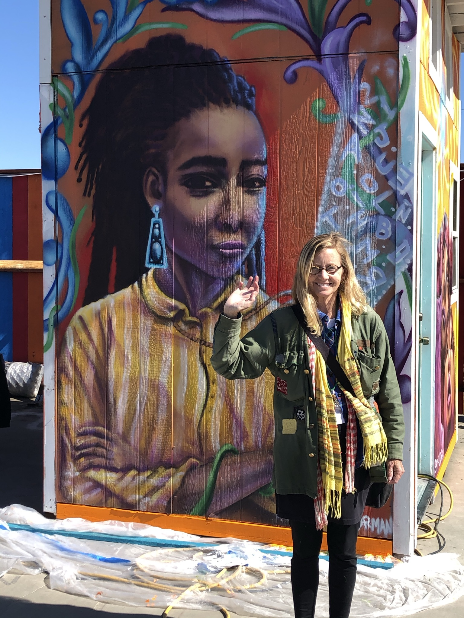 Sally and Mural