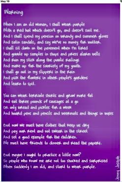 I Am wearing purple